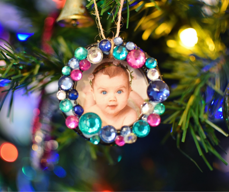 wreath decoration using a photo