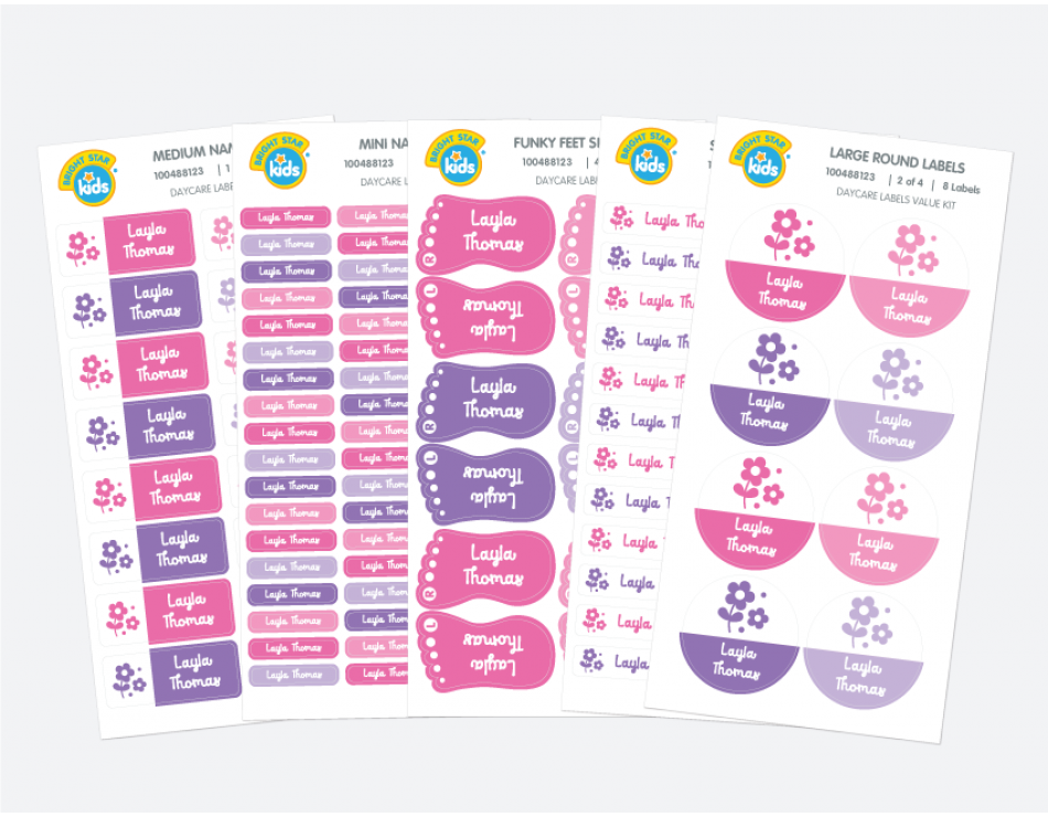 name labels - day care labels -- what you get